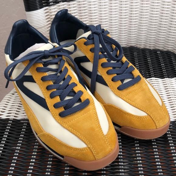 Tretorn Shoes   Rawlins2 Lemon Suede Us